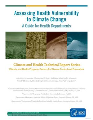 Primary view of object titled 'Assessing Health Vulnerability to Climate Change: A Guide for Health Departments'.