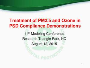 Primary view of object titled 'Treatment of PM2.5 and Ozone in PSD Compliance Demonstrations'.