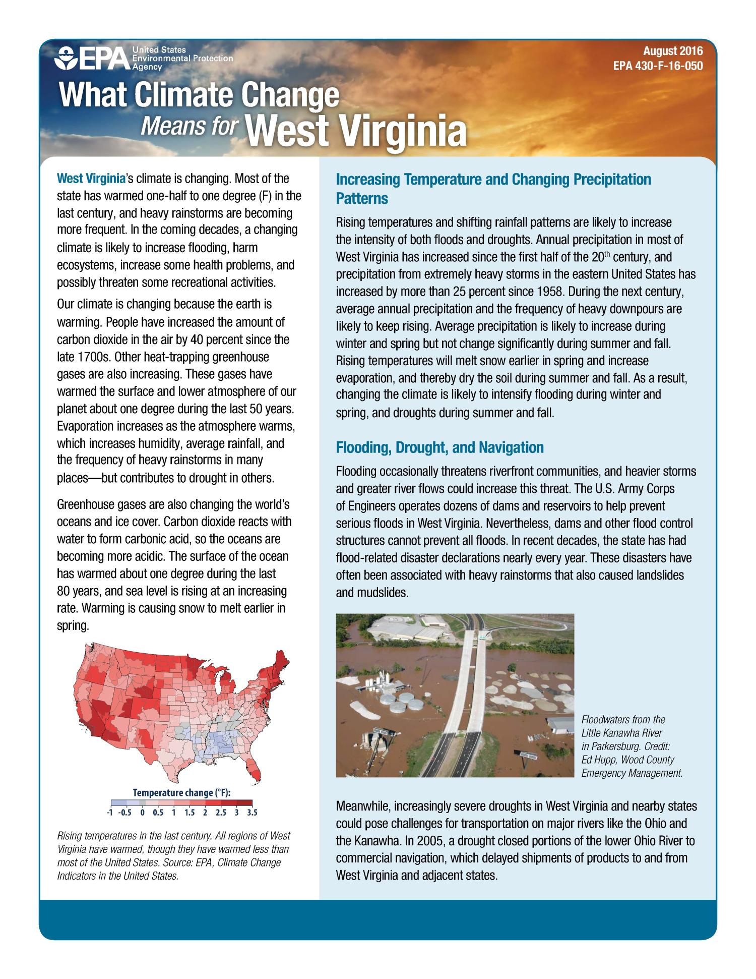What Climate Change Means for West Virginia                                                                                                      [Sequence #]: 1 of 2