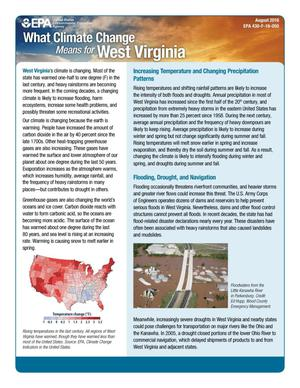 Primary view of object titled 'What Climate Change Means for West Virginia'.