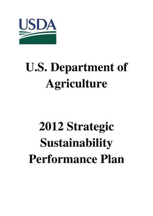 Primary view of object titled '2012 Strategic Sustainability Performance Plan'.