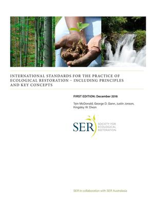 Primary view of object titled 'International Standards fir the Practice if Ecological Restoration- Including Principles and Key Concepts'.
