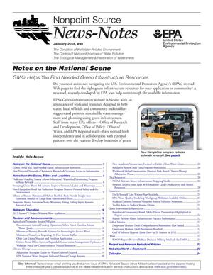 Primary view of object titled 'Nonpoint Source News-Notes, Number 99, January 2016'.