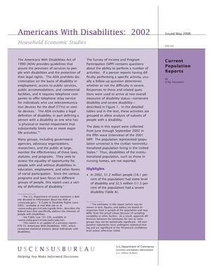 Primary view of object titled 'Americans With Disabilities: 2002'.