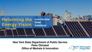 Primary view of object titled 'Reforming the Energy Vision: Low-income Solar Initiatives'.