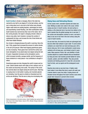 Primary view of object titled 'What Climate Change Means for South Carolina'.