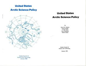 Primary view of object titled 'United States Artic Science Policy'.