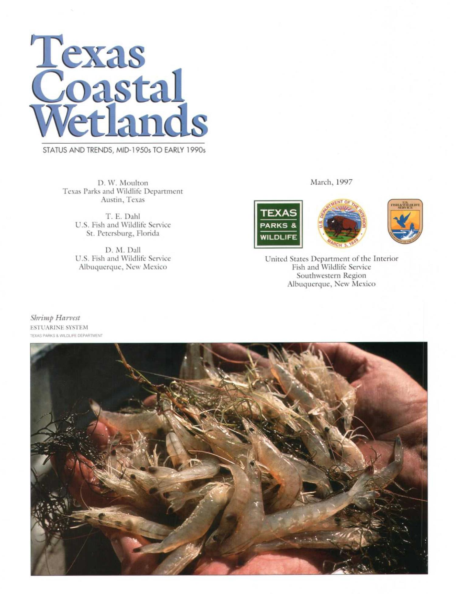Texas Costal Wetlands: Status and Trends, Mid-1950s to Early 1990s                                                                                                      [Sequence #]: 2 of 34