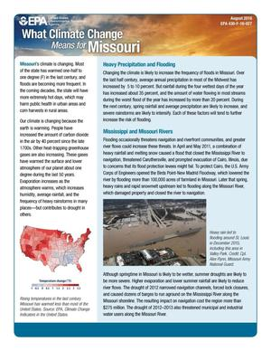 Primary view of object titled 'What Climate Change Means for Missouri'.