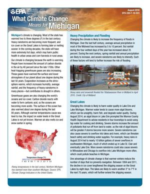 Primary view of object titled 'What Climate Change Means for Michigan'.