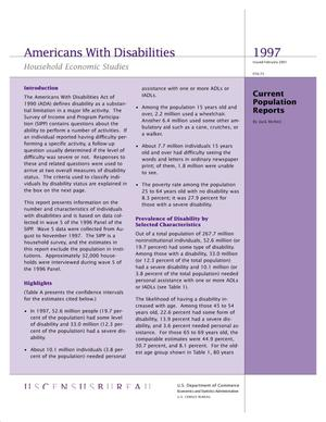 Primary view of object titled 'Americans With Disabilities'.