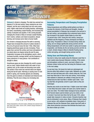 Primary view of object titled 'What Climate Change Means for Delaware'.