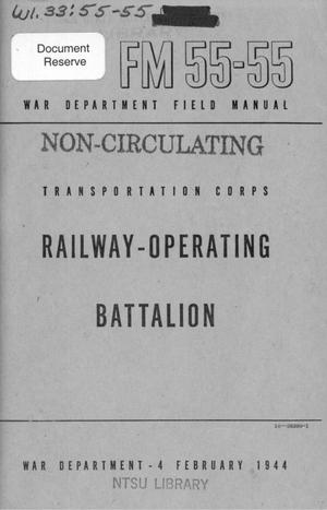 Primary view of object titled 'Transportation Corps : railway-operating battalion.'.