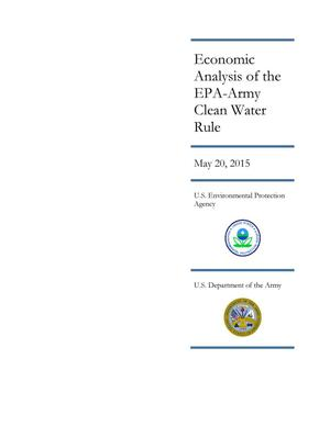 Primary view of object titled 'Economic Analysis of the EPA-Army Clean Water Rule'.