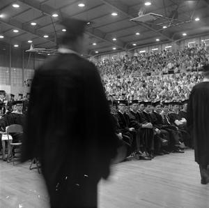 Primary view of object titled '[Students Walking for Commencement Ceremony]'.