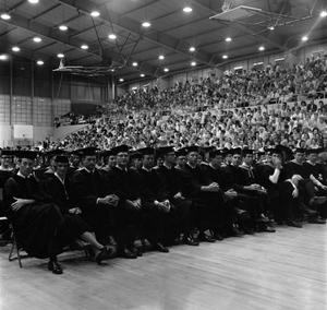 Primary view of object titled '[Graduating Students at Their Commencement Ceremony]'.