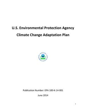 Primary view of object titled 'United States Environmental Protection Agency: Climate Change Adaptation Plan'.