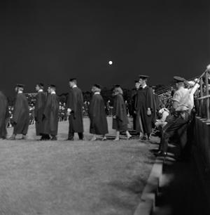Primary view of object titled '[Graduating Students in Line For Diplomas, 3]'.