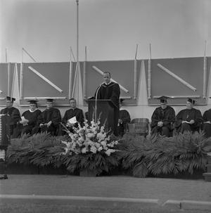 Primary view of object titled '[Dr. John J. Kamerick Commencement Speech, 2]'.