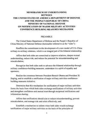 Memorandum Of Understanding Between The United States Of America - Us legal documents