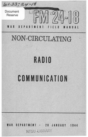 Primary view of object titled 'Radio communication.'.