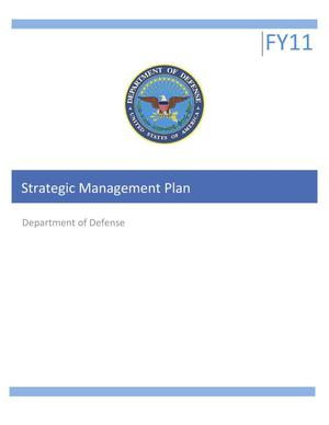 Primary view of object titled 'Strategic Management Plan - Department of Defense'.