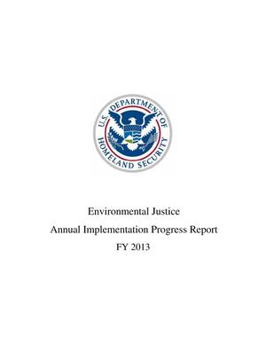 Primary view of object titled 'Environmental Justice Annual Implementation Progress Report: FY 2013'.