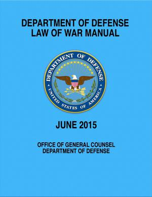Primary view of object titled 'Law of War Manual'.