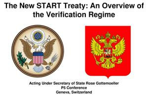 Primary view of object titled 'The New START Treaty: An Overview of the Verification Regime'.
