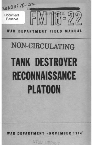Primary view of object titled 'Tank destroyer reconnaissance platoon.'.
