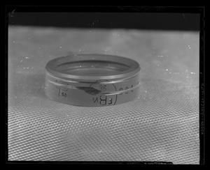 Primary view of object titled '[Worn part of an H-40, after 150 hour run test]'.