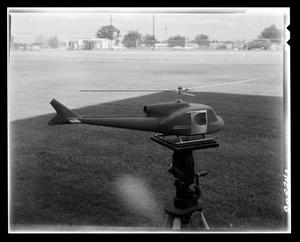 Primary view of object titled '[Model of an X-40 helicopter]'.