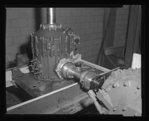 Primary view of object titled '[Bench test of the Bell 204 transmission]'.