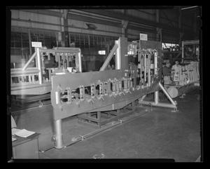 Primary view of object titled '[Tooling machinery in the Bell Helicopter plant]'.