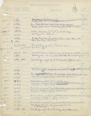 Primary view of object titled 'Music USA Recording Schedule, 1962-1973'.