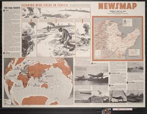 Newsmap. Monday, May 10, 1943 : week of April 30 to May 7, 191st week of the war, 73rd week of U.S. participation