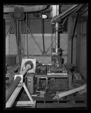 Primary view of object titled '[Bench test of the transmission for the Bell XH-40]'.