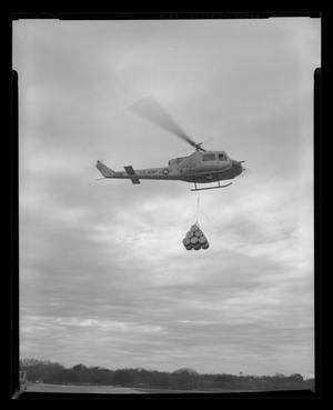Primary view of object titled '[XH-40 #3 with cargo sling]'.