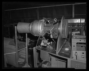 Primary view of object titled '[A Lycoming engine being tested]'.