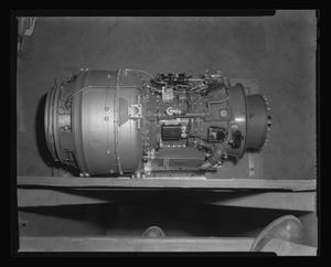 Primary view of object titled '[The Lycoming turbine engine before installation in the XH-40 #1]'.