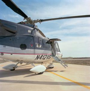 Primary view of object titled '[The Bell 412SP on the ground]'.