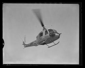 Primary view of object titled '[Side view of the YH-40 #4 hovering]'.