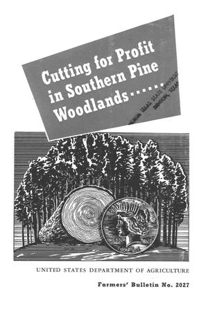 Primary view of object titled 'Cutting for profit in Southern pine woodlands.'.