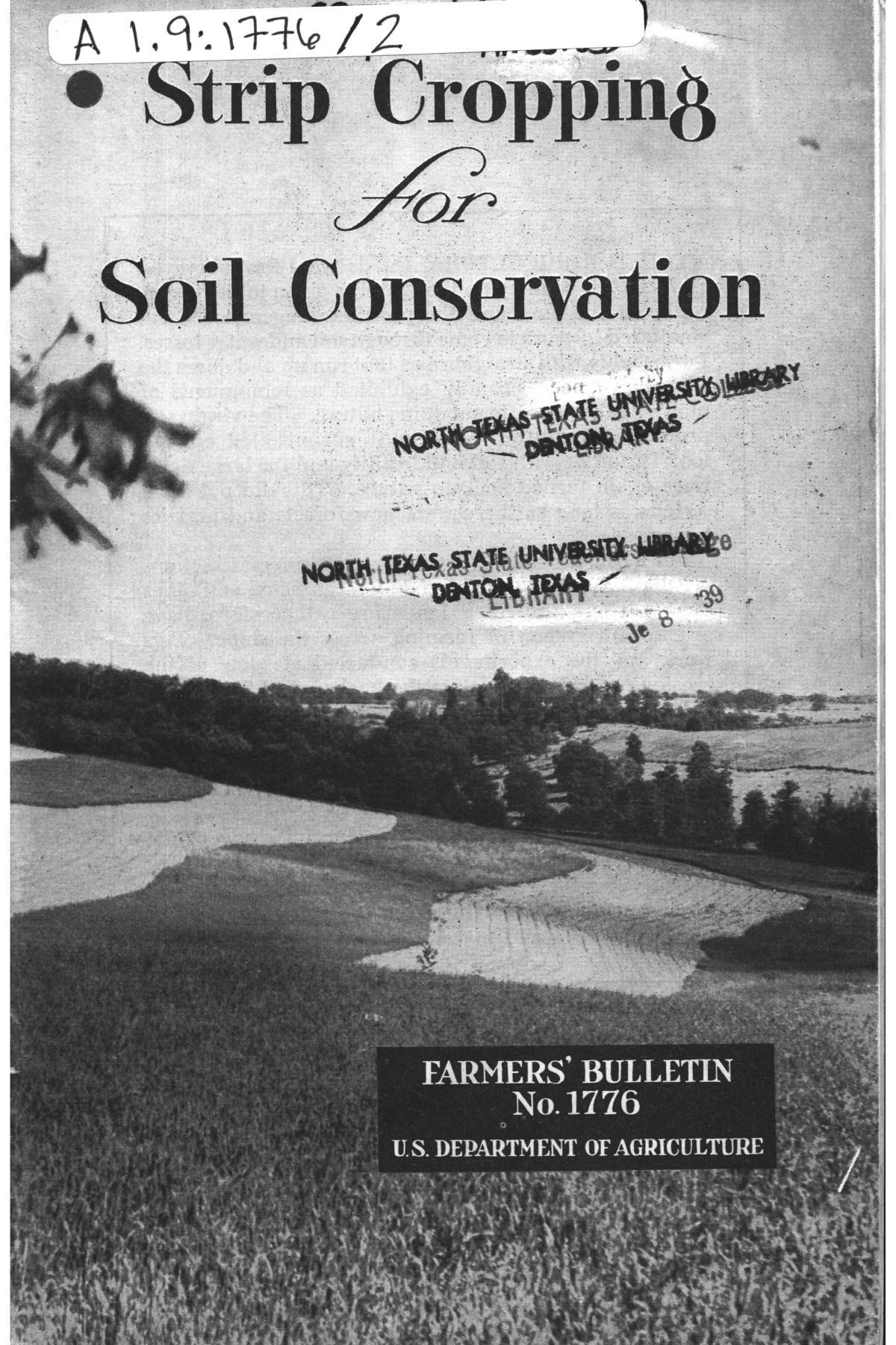 Strip cropping for soil conservation digital library for Soil library