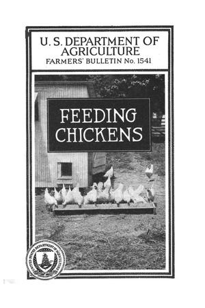 Primary view of object titled 'Feeding chickens.'.