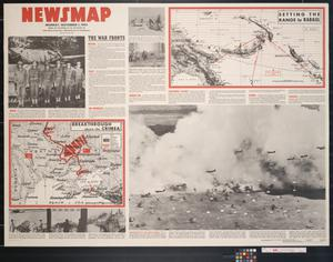 Primary view of object titled 'Newsmap. Monday, November 1, 1943 : week of October  21 to October 28, 216th week of the war, 98th week of U.S. participation'.