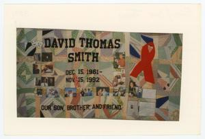 Primary view of object titled '[AIDS Memorial Quilt Panel for David Thomas Smith]'.