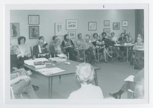 Primary view of object titled '[Group at Shasta College During a Discussion]'.