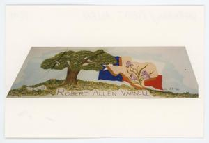 Primary view of object titled '[AIDS Memorial Quilt Panel for Robert Allen Varnell]'.