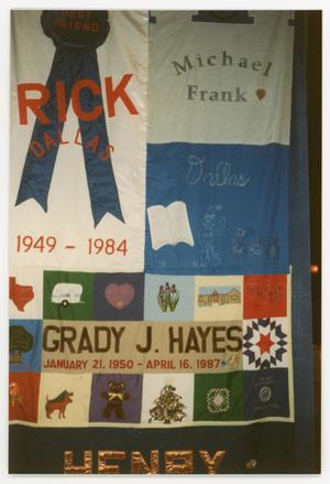 Primary view of object titled '[AIDS Memorial Quilt Panels for Michael Frank and Grady J. Hayes]'.